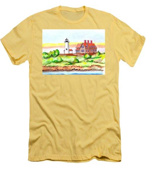 Nobska Point Lighthouse Men's T-Shirt (Slim Fit) by Paul Meinerth