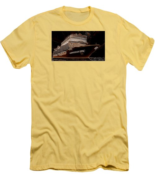 Men's T-Shirt (Slim Fit) featuring the photograph Norwegian Epic by Mario Carini