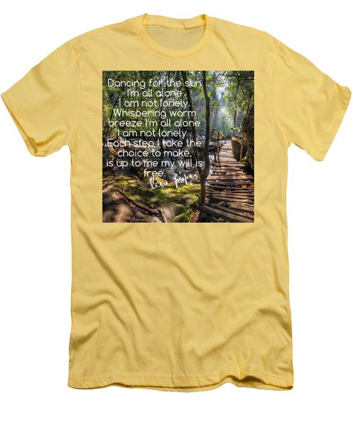 Not Alone Men's T-Shirt (Slim Fit) by Lisa Piper