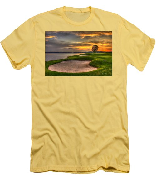 Men's T-Shirt (Athletic Fit) featuring the photograph Number 4 Sunset Traps Reynolds Plantation by Reid Callaway