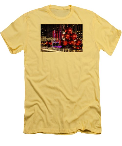 Men's T-Shirt (Slim Fit) featuring the photograph Nyc Holiday Balls by Chris Lord