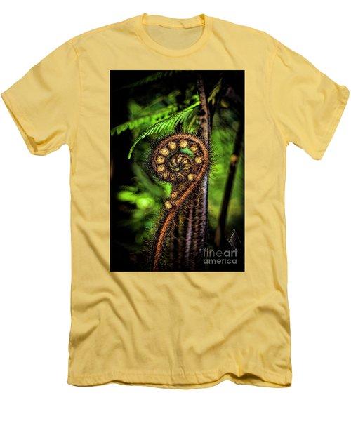 Nz Koru Men's T-Shirt (Slim Fit) by Karen Lewis