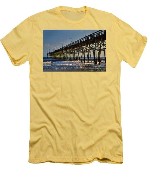 Oak Island Pier 2015 Men's T-Shirt (Athletic Fit)
