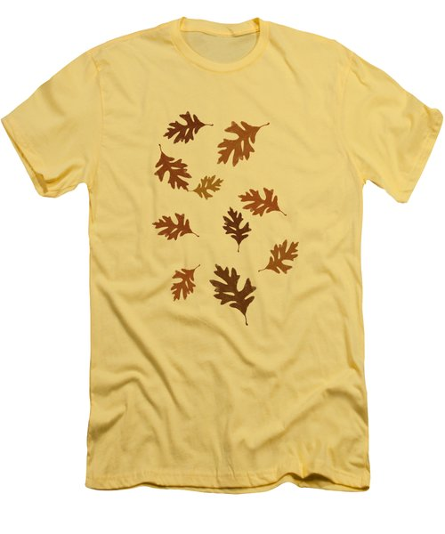Oak Leaves Art Men's T-Shirt (Slim Fit)