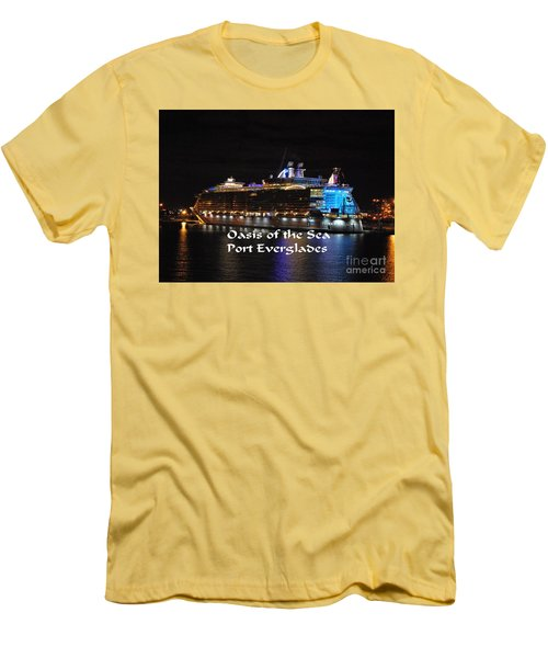 Oasis Of The Seas Men's T-Shirt (Slim Fit) by Gary Wonning