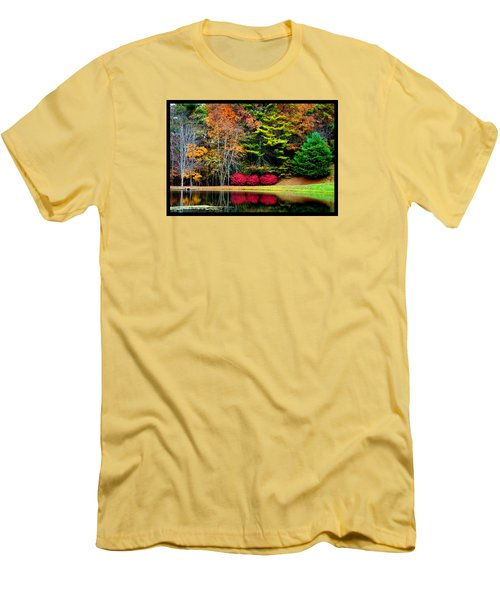 October Afternoon In The Blue Ridge Mountains Men's T-Shirt (Slim Fit) by Susanne Still