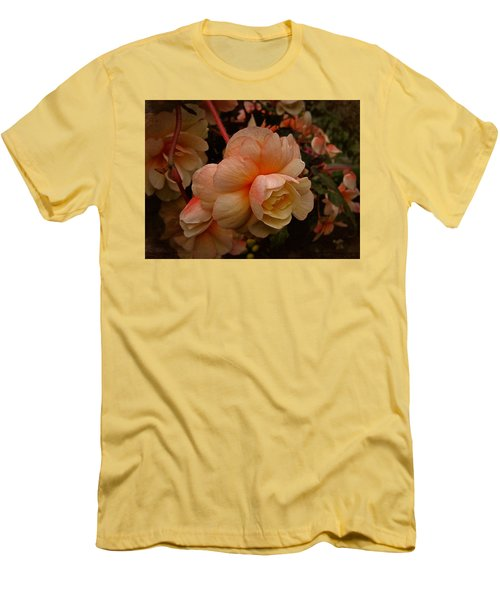 Men's T-Shirt (Slim Fit) featuring the photograph Vintage Begonia No. 2 by Richard Cummings