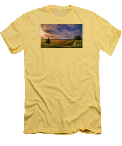 October Morning At Valley Forge Men's T-Shirt (Slim Fit) by Rima Biswas