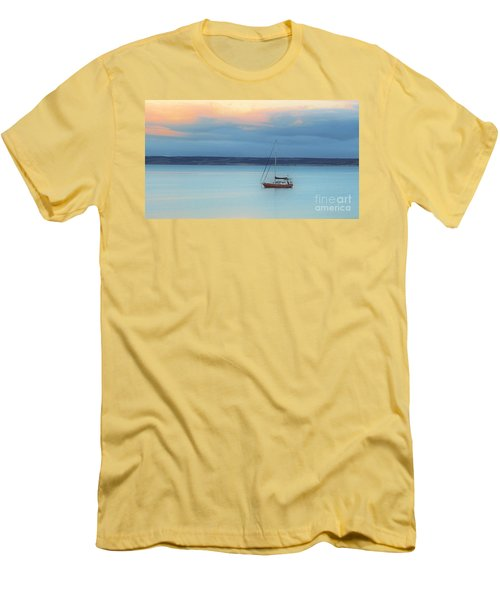 Men's T-Shirt (Slim Fit) featuring the photograph Off Sailing by Stephen Mitchell