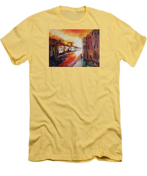 Oil Msc 013 Men's T-Shirt (Slim Fit) by Mario Sergio Calzi