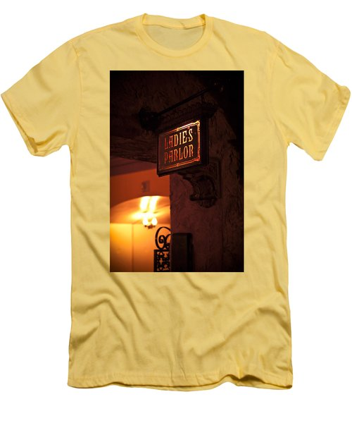 Men's T-Shirt (Slim Fit) featuring the photograph Old Fashioned Ladies Parlor Sign by Carolyn Marshall