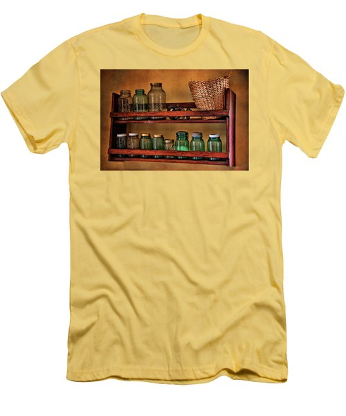 Old Jars Men's T-Shirt (Slim Fit) by Lana Trussell