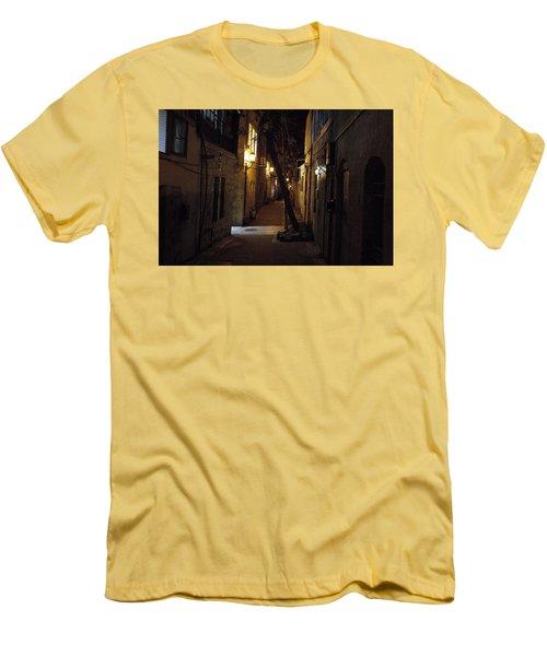 Old Jerusalem Men's T-Shirt (Slim Fit) by Shlomo Zangilevitch