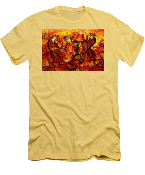 Old Klezmer Band Men's T-Shirt (Slim Fit) by Leon Zernitsky
