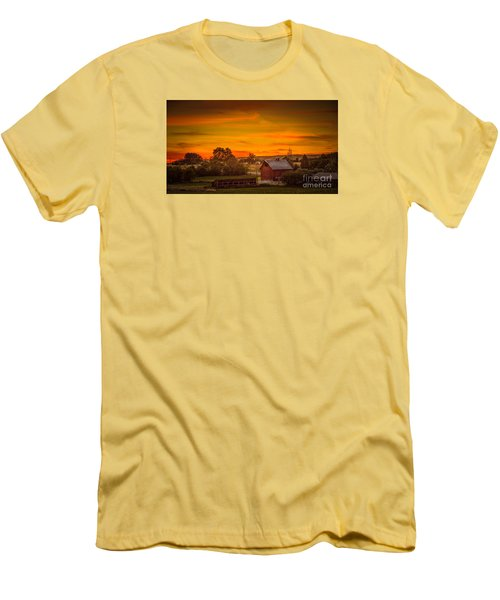 Old Red Barn Men's T-Shirt (Slim Fit) by Robert Bales