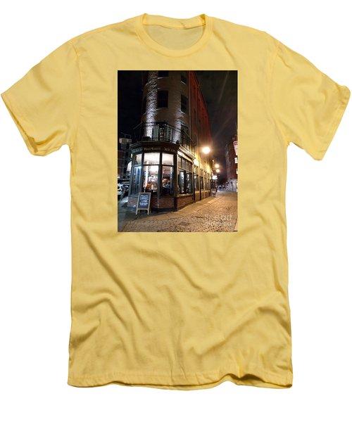 Old Tavern Boston Men's T-Shirt (Slim Fit) by Haleh Mahbod