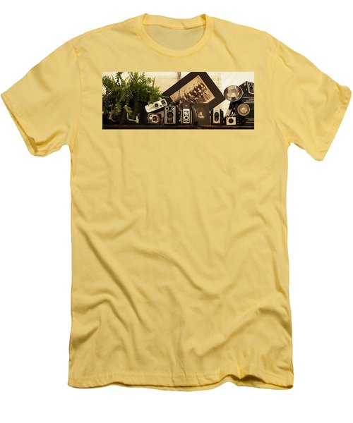 Men's T-Shirt (Slim Fit) featuring the photograph Old Time Photography by Cathy Donohoue
