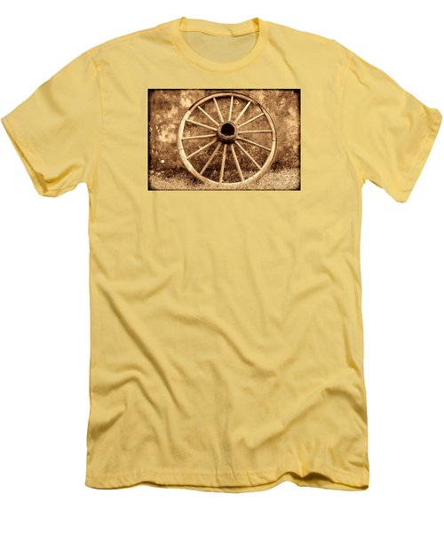 Old Wagon Wheel Men's T-Shirt (Slim Fit) by American West Legend By Olivier Le Queinec