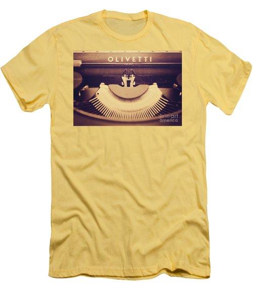 Olivetti Typewriter Men's T-Shirt (Athletic Fit)