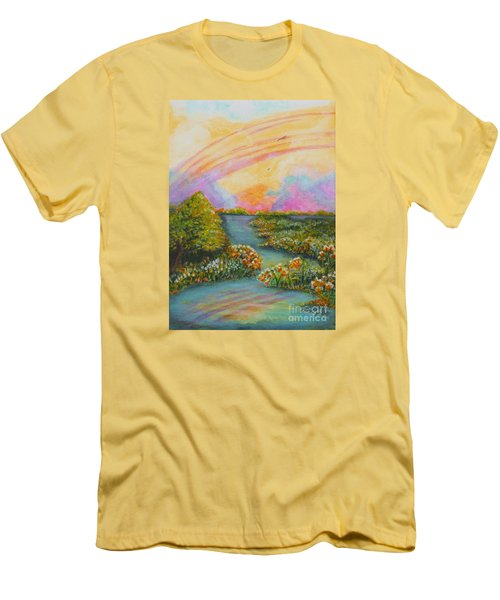 On My Way Men's T-Shirt (Slim Fit) by Holly Carmichael