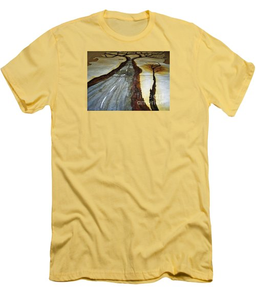 On The Road Of The Tree Of Life Men's T-Shirt (Slim Fit) by Talisa Hartley