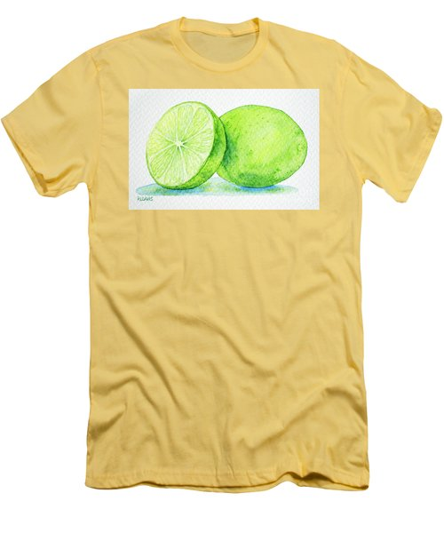 One And A Half Limes Men's T-Shirt (Slim Fit) by Rebecca Davis