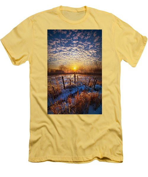 One Day At A Time Men's T-Shirt (Slim Fit) by Phil Koch