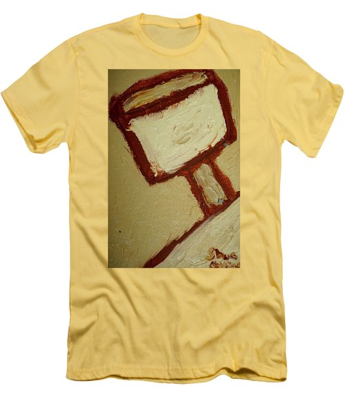 Men's T-Shirt (Slim Fit) featuring the painting One Lamp by Shea Holliman