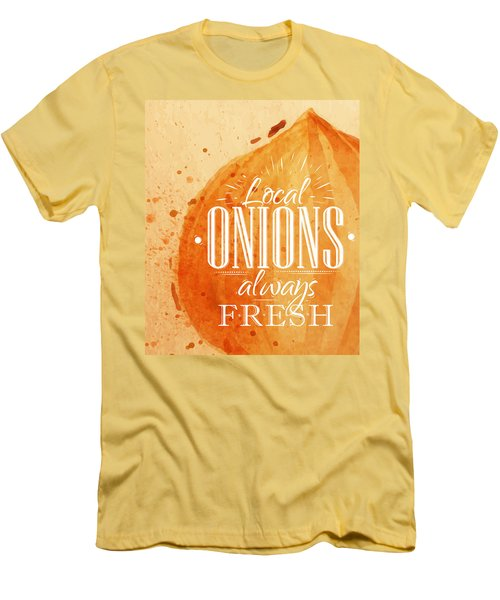 Onion Men's T-Shirt (Slim Fit) by Aloke Creative Store