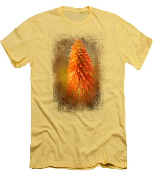 Orange Blast In The Garden Men's T-Shirt (Athletic Fit)