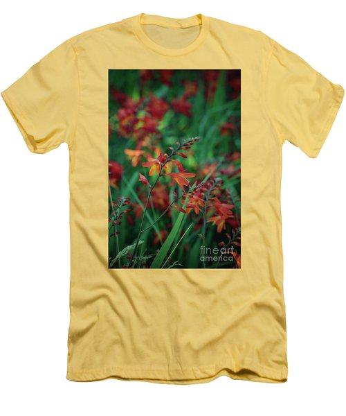 Orange Flowers 8 Men's T-Shirt (Athletic Fit)