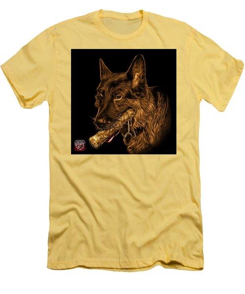 Orange German Shepherd And Toy - 0745 F Men's T-Shirt (Slim Fit) by James Ahn