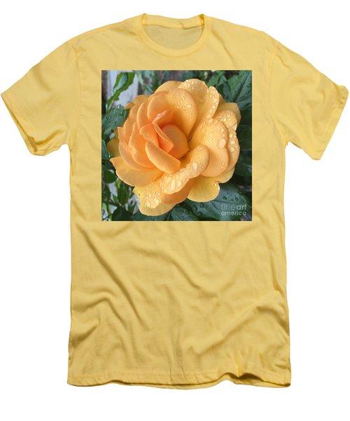 Orange Rain Drops Men's T-Shirt (Athletic Fit)