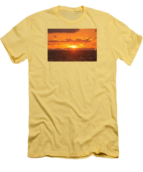 Men's T-Shirt (Slim Fit) featuring the photograph Orange Skies At Dawn by Robert Banach