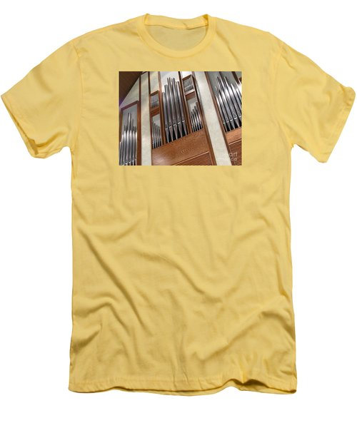 Men's T-Shirt (Slim Fit) featuring the photograph Organ Pipes by Ann Horn