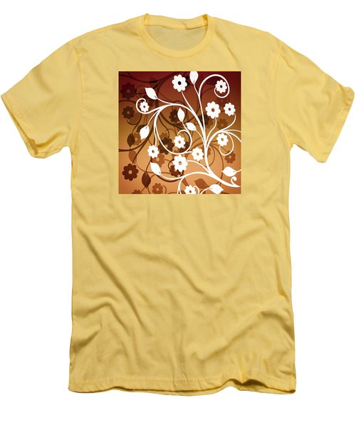 Men's T-Shirt (Slim Fit) featuring the digital art Ornamental 2 Warm by Angelina Vick