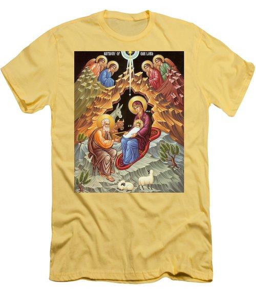 Orthodox Nativity Scene Men's T-Shirt (Slim Fit) by Munir Alawi