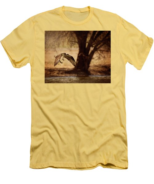 Osprey With Lunch Men's T-Shirt (Athletic Fit)