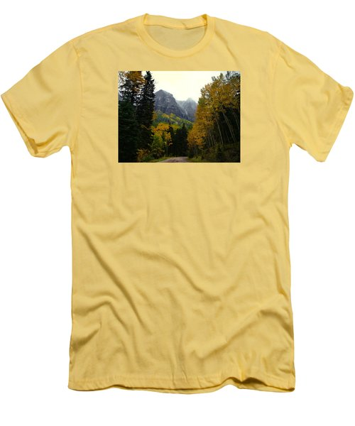 Men's T-Shirt (Slim Fit) featuring the photograph Ouray Side Trip by Laura Ragland