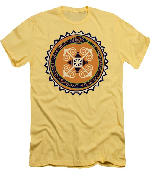 Ouroboros With Devine Fire Wheel Men's T-Shirt (Slim Fit) by Vagabond Folk Art - Virginia Vivier