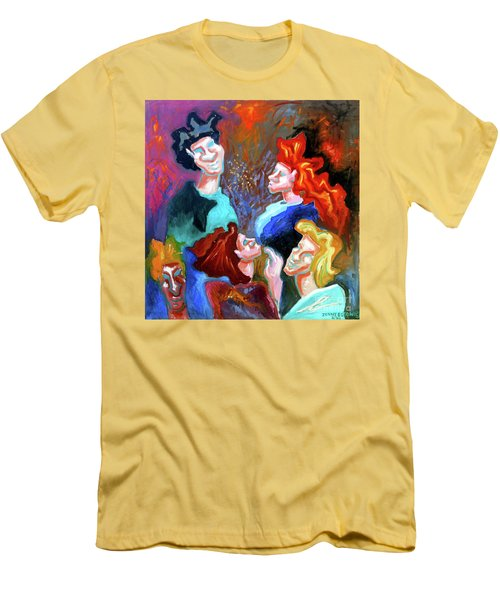 Men's T-Shirt (Slim Fit) featuring the painting Out On The Town by Genevieve Esson