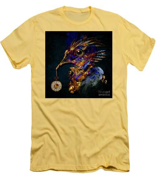 Men's T-Shirt (Slim Fit) featuring the painting Outside Of Time by Alexa Szlavics