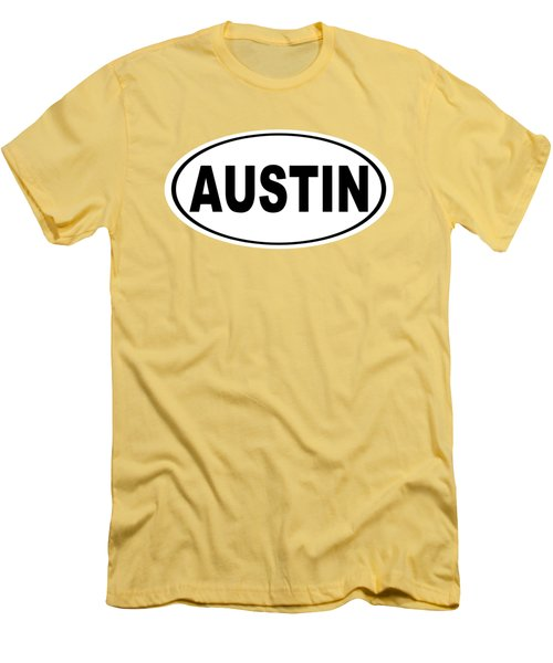 Oval Austin Texas Home Pride Men's T-Shirt (Athletic Fit)