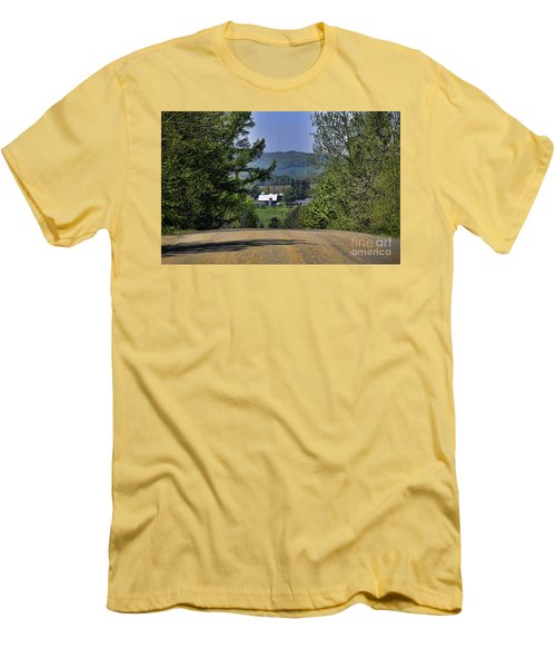 Over The Hill Men's T-Shirt (Slim Fit) by Jim Lepard