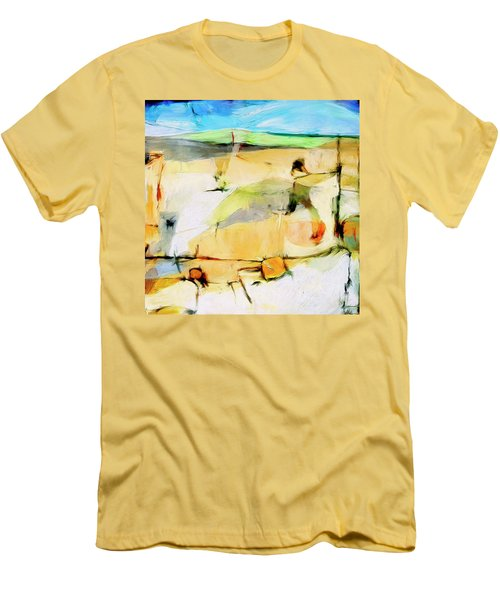 Men's T-Shirt (Slim Fit) featuring the painting Overlook by Dominic Piperata