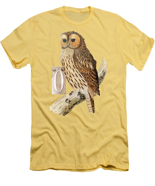 Owl T Shirt Design Men's T-Shirt (Slim Fit) by Bellesouth Studio