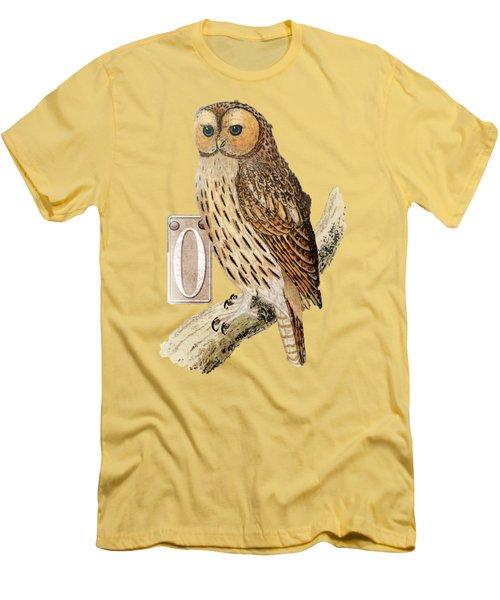 Owl T Shirt Design Men's T-Shirt (Slim Fit)