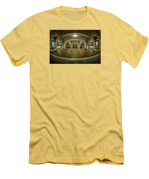 Men's T-Shirt (Slim Fit) featuring the photograph Oyster Bar Restaurant by Rafael Quirindongo