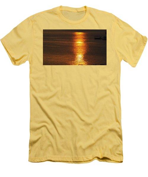 Ozark Lake Sunset Men's T-Shirt (Slim Fit) by Don Koester