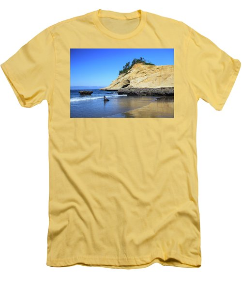 Men's T-Shirt (Athletic Fit) featuring the photograph Pacific Morning by David Chandler